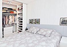 Closet pequeno adaptado a realidade de um quarto. (Foto: Divulgação)
