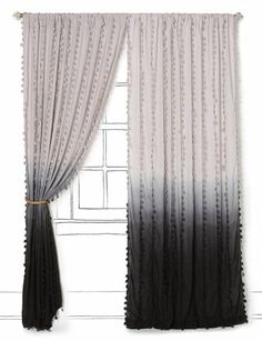 Ombre curtains. #ombre