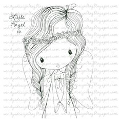 Little Angel by alldressedupstamps on Etsy
