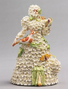 """Shary Boyle, """"Snowball"""", 2006. Porcelain, china paint. Collection of the Musee des beaux-arts, Montreal."""