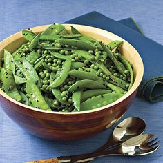 Sugar Snap – Snow Pea Salad    Light and brightly flavored with fresh ginger, this Asian-inspired medley of fresh and frozen peas takes just minutes to toss together.