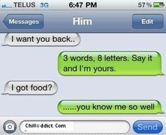 Iphone Text Messages: I Got Fooodddd???