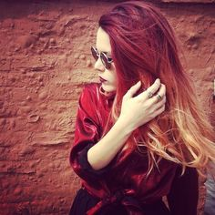 Red Ombré  - thinking of changing up my current brown to blonde Ombré to this RED to blonde!
