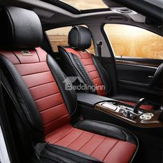 Classic Sport Leather Material Contrast Color Car Seat Cover  on sale, Buy Retail Price Car Seat Covers at Beddinginn.com