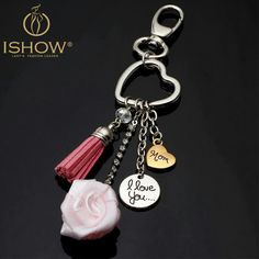Cheap keychain diamond, Buy Quality keychain gift box directly from China keychain tripod Suppliers: New llaveros mujer portachiavi Heart keychain for keys llaveros para llaves I Love You mom and dad Key Chain woman porte clef I Love You Mom, Mom And Dad, Mother Birthday Gifts, Mother Day Gifts, Heart Shaped Rings, Letter Pendants, Mothers Day Presents, Leather Tassel, Key Fobs
