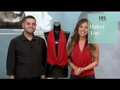 DIY: No Sew Halter Top with Michael Costello - YouTube