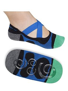 Lupo Women's Heel N Toe Yoga Barre Pilates Grip Socks ** Want to know more, click on the image.
