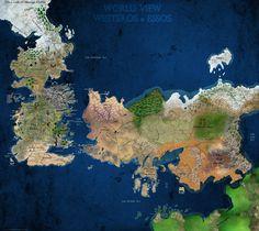 Westeros and Essos - World View #GameOfThrones