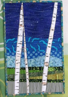 birch bark quilt.. @Carol Killacky, you should give this one a shot:-)