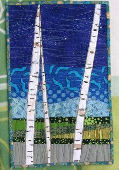 birch bark quilt.. @Carol Van De Maele Killacky, you should give this one a shot:-)