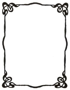 Art Nouveau Ink Picture Frame By Enchantedgal Stock clip art