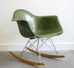 Nice green color rocker Designer: Eames Manufacturer: Herman Miller