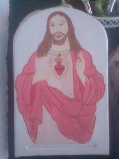 Sagrado coração de Jesus pintado por Teresa