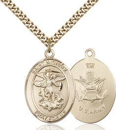 St. Michael the Archangel Pendant (Gold Filled) by Bliss | Catholic Shopping .com