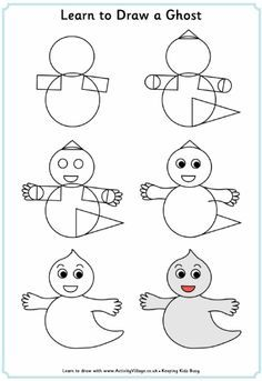 learn to draw halloween printables - Google Search
