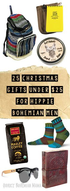 25 Christmas Gifts Under $25 for Hippie Bohemian Men {2016 Gift Guide for Hippies/Bohemians}
