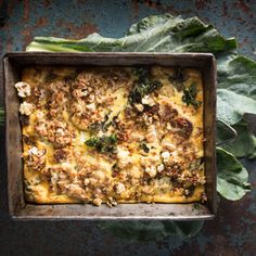 Cauliflower goats cheese frittata recipe
