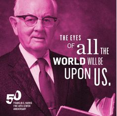 Spencer W. Kimball, twelfth president and prophet of The Church of Jesus Christ of Latter-day Saints, envisioned a world where millions would be blessed by the artistic talents of Latter-day Saints. http://bit.ly/1FyPAvT