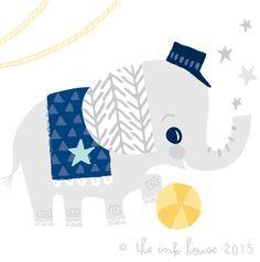 Circus Elephant | The Ink House | Liz Alpass 2015