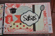 Recetario de cocina de scrapbooking / Recipe book