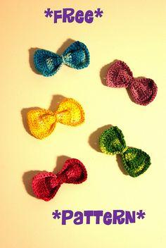 Free crochet cute bow pattern | Flickr - Photo Sharing!