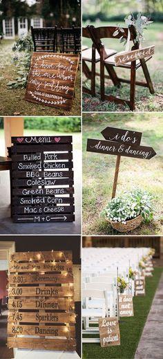 Easy DIY rustic wedding sign ideas