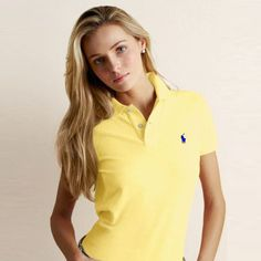 Ralph Lauren Classic Fit Pony Polo Yellow For the Men in Our Lives Polo Shirt Outfits, Polo Outfit, Polo Shirt Women, Lacoste Outlet, Polo Store, Polo Ralph Lauren, Le Polo, Golf Attire, Equestrian Outfits