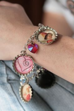 Say you love me Charm Bracelet by MMVintageSweets on Etsy