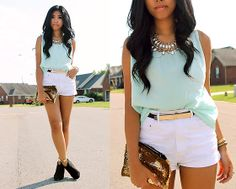 Gold/Mint  MODE MALAYSIA | YOUR FASHION LIFESTYLE ♥ http://www.modemalaysia.blogspot.com/
