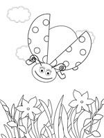 Ladybug smiles stomach cries coloring pages Download Free Ladybug