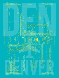 Jfk new york airport diagram aviation art gift for airport buff den denver airport diagram den airport code fandeluxe Image collections