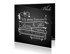 Stijlvolle trouwkaarten maken. Een bijzondere huwelijkskaart met een retro look.