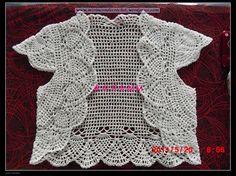 Bolero en una sola pieza….Divino!!!   Mi Rincon de Crochet