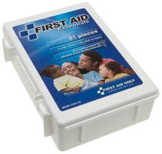 First Aid Only All-purpose First Aid Kit, 81-Piece Kit (Pack of 3) by First Aid Only. $22.92. Kit provides 73 pieces, including medicine antiseptics, pain relief, bandages, injury treatment dressing, references, and instruments. Includes critical supplies not found in other kits:  trauma pad, exam gloves, conforming gauze roll bandage, and more. All-purpose first aid kit recommended by health care professionals. Carrier outfitted with unique compartmental organizers ...