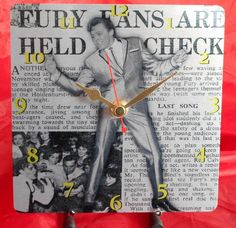 Billy Fury Headlines Sublimation Metal Clock