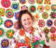 Annabelle Collett- recycled plastic artist Australia
