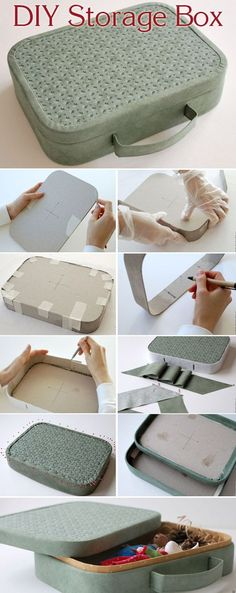 Making a Stylish Box for Storage. DIY Tutorial http://www.handmadiya.com/2017/06/storage-box-tutorial.html