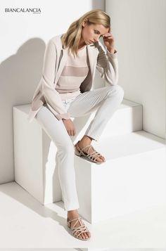 Powder pink and white #biancalancia #madeinitaly