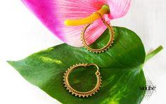 20% DISCOUNT**Coupon: 20SACREDRING-Brass Earrings-Hoop earrings-Boho Earrings-Indian earring-Brass Jewerly-Alpaca Jewelry-Bohemian Jewelry de BySinuhe en Etsy