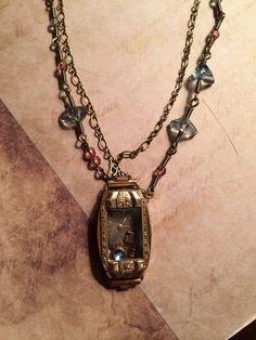 Vintage watch case, steampunk. Handmade artisian jewelry  on Etsy, $80.00