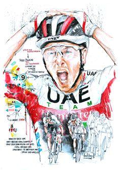 Cycling Art, Road Cycling, Bike Art, Climbers, Tattoo Ideas, Champion, Bicycle, Racing, Tours