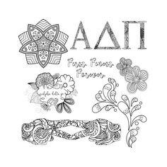 Alpha Delta Pi ADPi Coloring Book