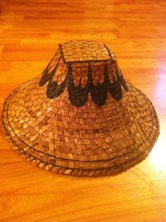 Hand painted n made cedar ladies hat