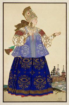 Russian folk costumes in the illustrations of Ivan Bilibin