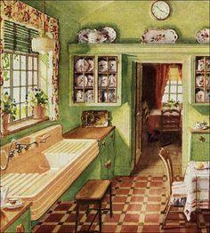 1920's kitchen  Butler's pantry / original kitchen cabinets 1920s kitchen. http://www.pinterest.com/pin/546554104750854393/