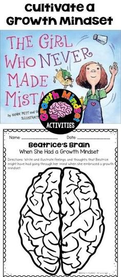 Teach Your Child to Read The Girl Who Never Made Mistakes No Prep Printables Give Your Child a Head Start, and.Pave the Way for a Bright, Successful Future. Growth Mindset Classroom, Growth Mindset Activities, Growth Mindset Lessons, Social Emotional Learning, Social Skills, School Social Work, High School, Leader In Me, Guidance Lessons