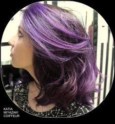 Katia Miyazaki Coiffeur - Salão de Beleza em Floripa: mechas - purple hair - dark purple hair  - imperia...