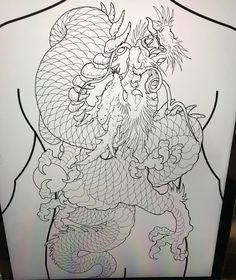 Doing this today on my brother Dragon Tattoo Colour, Dragon Tattoo Back, Dragon Sleeve Tattoos, Japanese Dragon Tattoos, Japanese Tattoo Art, Dragon Tattoo Designs, Japanese Tattoos For Men, Traditional Japanese Tattoos, Asian Tattoos