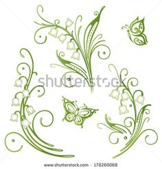 Lily-of-the-valley Stok Fotoğraflar, Görseller ve Resimler Tattoos For Women Flowers, Foot Tattoos For Women, Foot Tatoos, Free Vector Images, Vector Free, Tummy Tuck Tattoo, Framed Leaves, Snoopy Christmas, Hand Work Embroidery