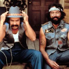 Cheech and Chong. Up in Smoke! Best movie ever ! oh yea everything (body) went up in smoke :) Chicano, Cheech Y Chong, Top 10 Comedies, Movie Stars, Movie Tv, Movie Duos, Emission Tv, Comedy Duos, Photo Vintage